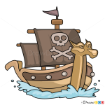 How to Draw Sea Rover, Pirates