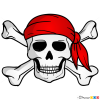 How to Draw Jolly Roger, Pirates
