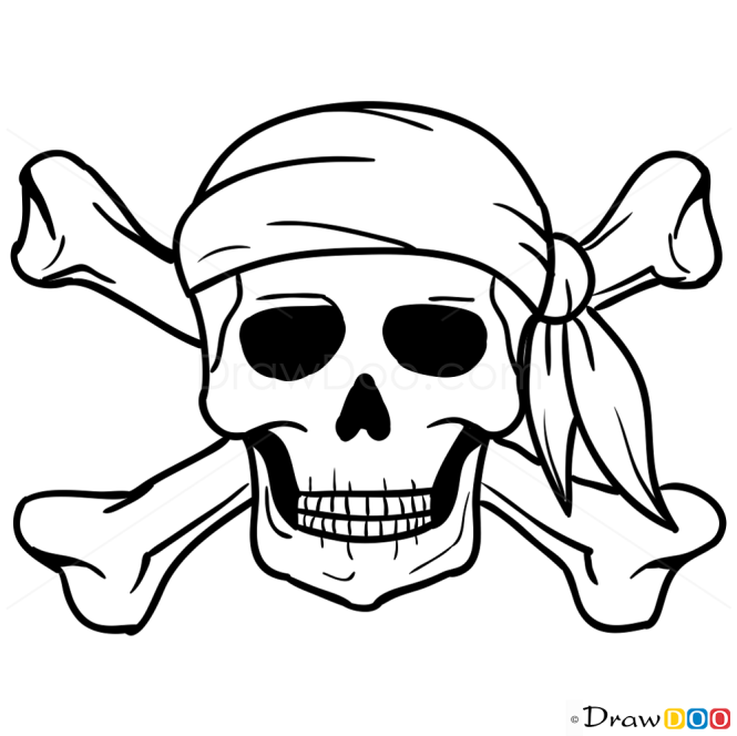 How To Draw Jolly Roger Pirates