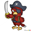 How to Draw Pirate Parrot, Pirates