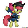 How to Draw Little Pony, Pirate, Pirates