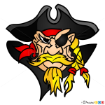 How to Draw Captain, Pirates