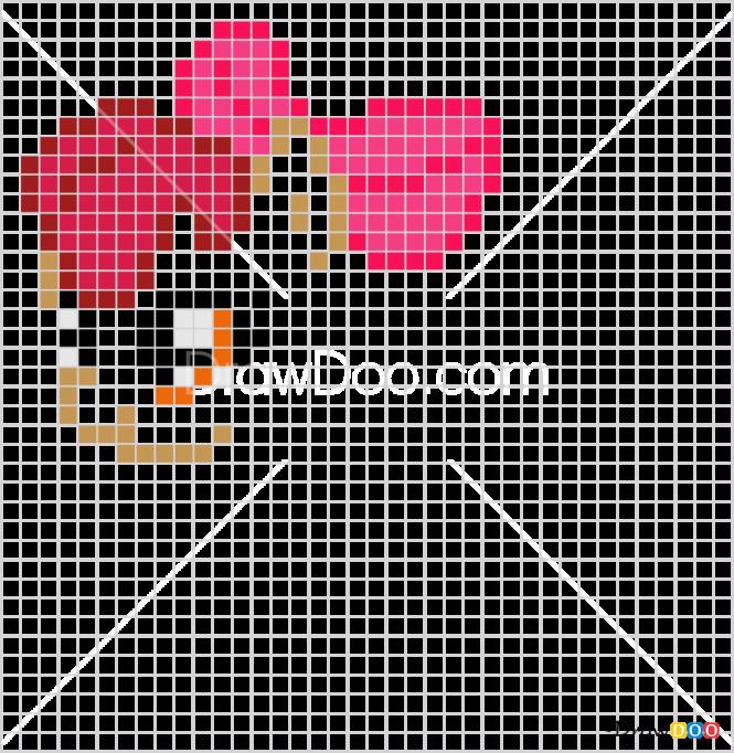 How to Draw Apple Bloom, Pixel Cartoons