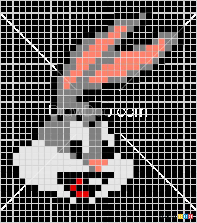 How to Draw Bax Bunny, Pixel Cartoons