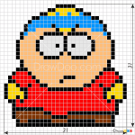 How to Draw Cartman, Pixel Cartoons
