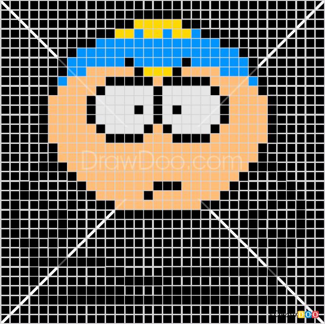 How to Draw Cartman, Pixel Cartoons