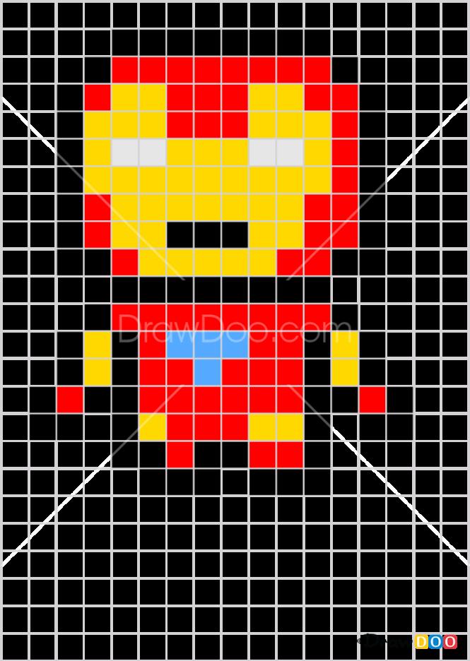 How to Draw Iron Man, Pixel Cartoons
