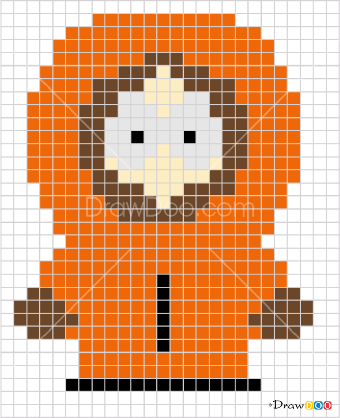 How to Draw Kenny, Pixel Cartoons