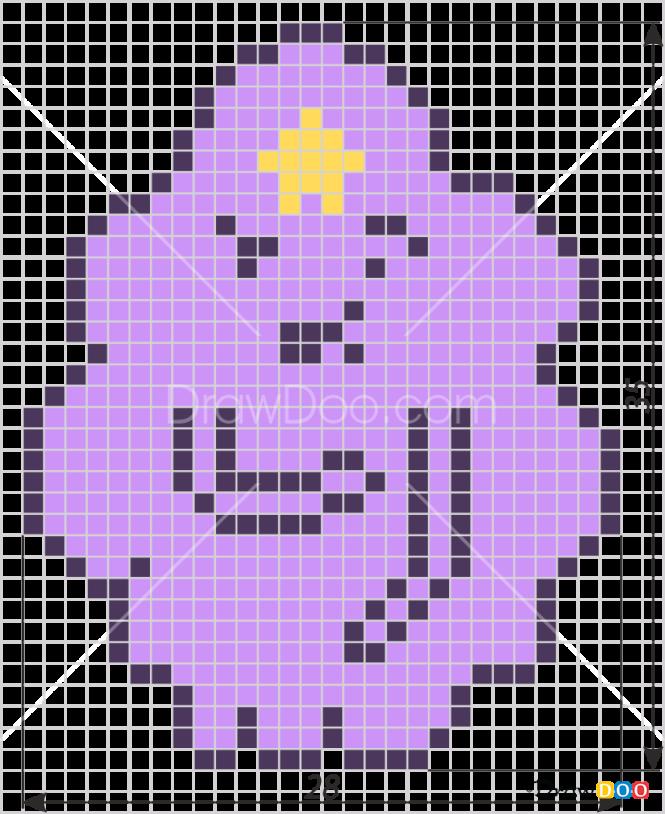 How to Draw Lumpy Space Princess, Pixel Cartoons