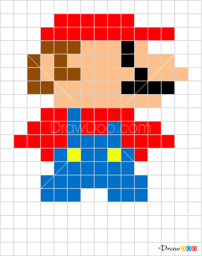 How to Draw Mario, Pixel Cartoons
