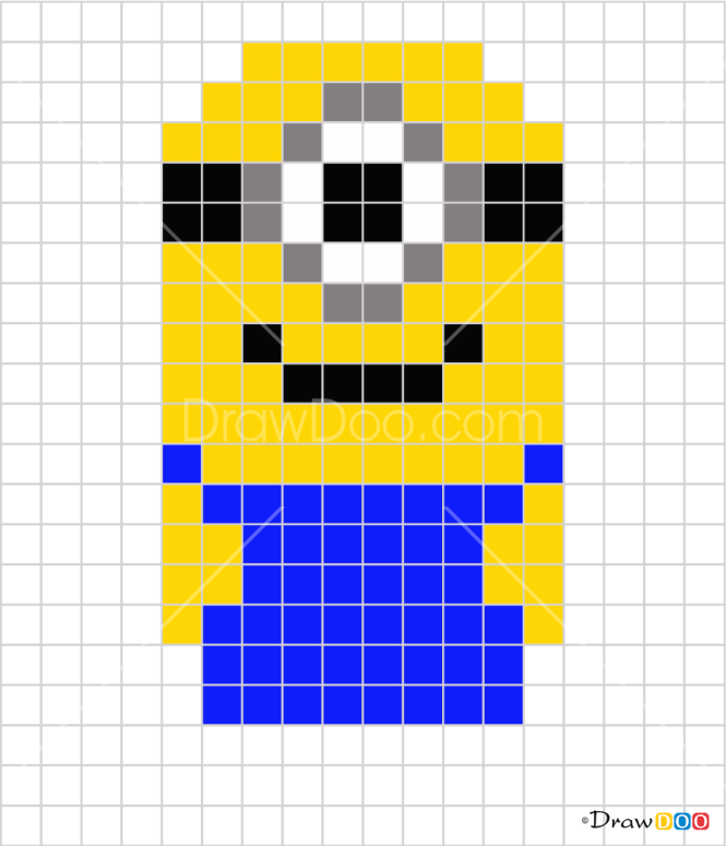 How to Draw Minion, Pixel Cartoons