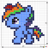 How to Draw Rainbow Dash, Pixel Cartoons