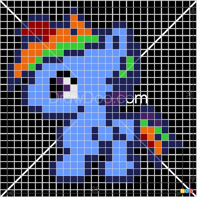 How to Draw Rainbow Dash, Pixel Cartoons
