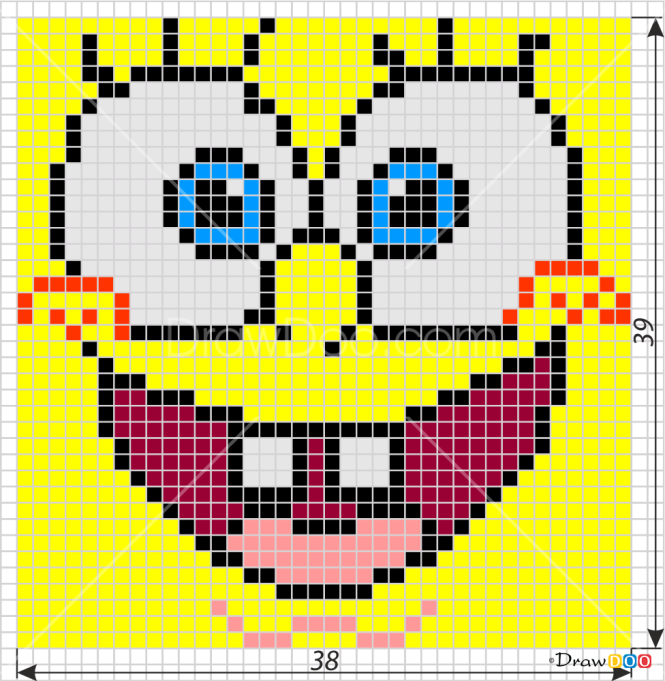 How to Draw Spongebob, Pixel Cartoons