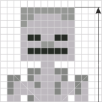 How to Draw Skeleton, Pixel Minecraft