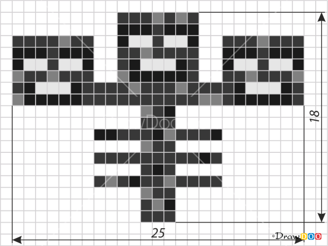 How To Draw Wither Pixel Minecraft