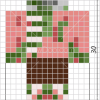 How to Draw Zombie Pigman, Pixel Minecraft