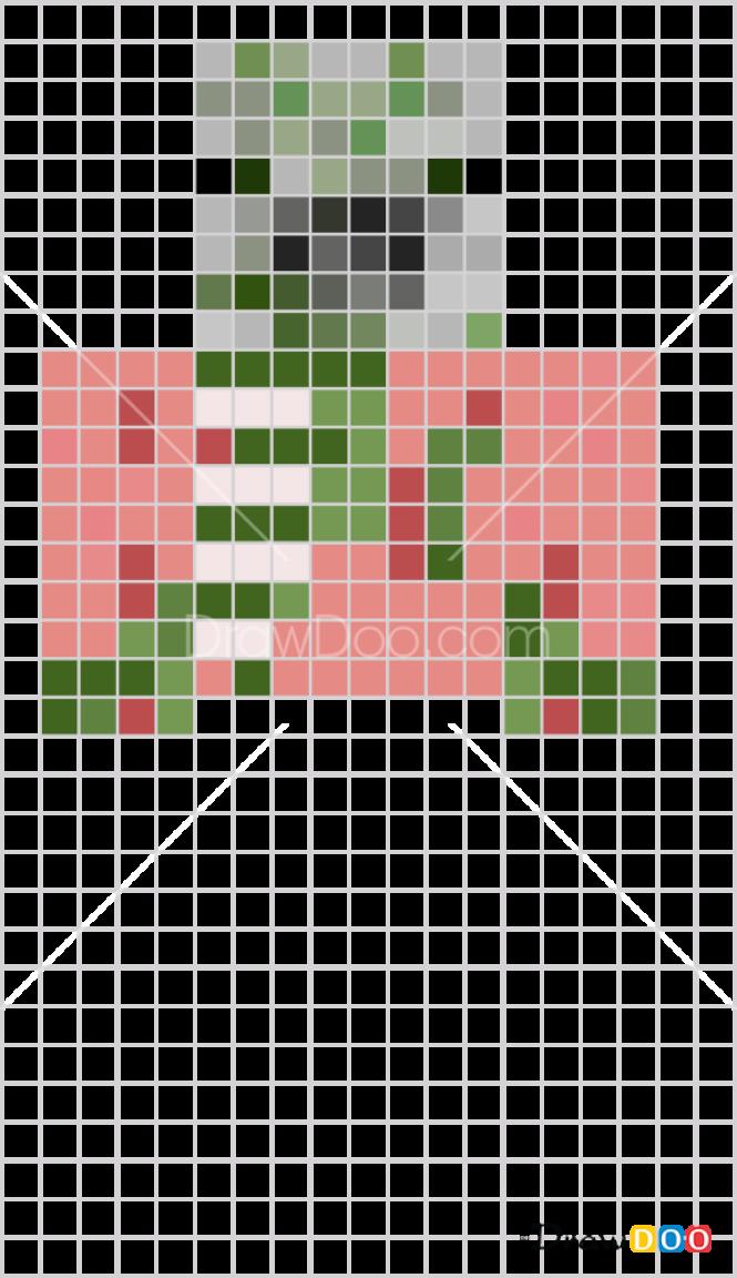 How To Draw Zombie Pigman Pixel Minecraft