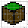 How to Draw Dirt Block, Pixel Minecraft