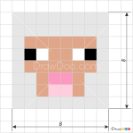 How to Draw Sheep Face, Pixel Minecraft