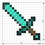 How to Draw Sword, Pixel Minecraft