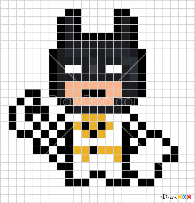 How to Draw Batman, Pixel Superheroes