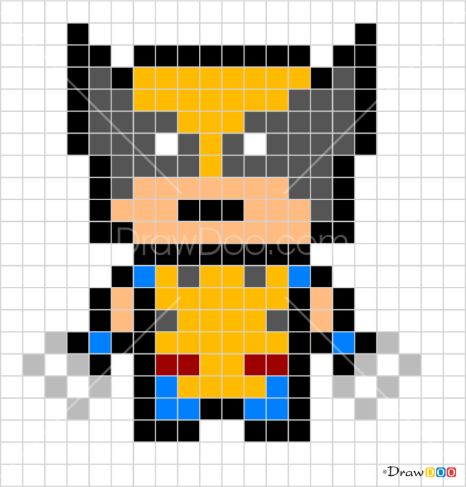 How to Draw Wolverine, Pixel Superheroes