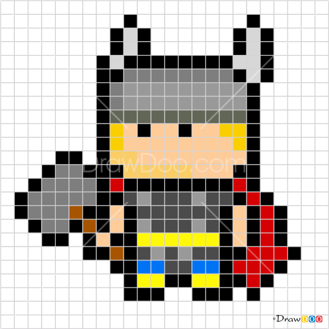 How to Draw Thor, Pixel Superheroes