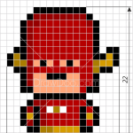 How to Draw Flash, Pixel Superheroes