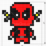 How to Draw Dead Pool, Pixel Superheroes