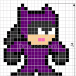 How to Draw Catwoman, Pixel Superheroes