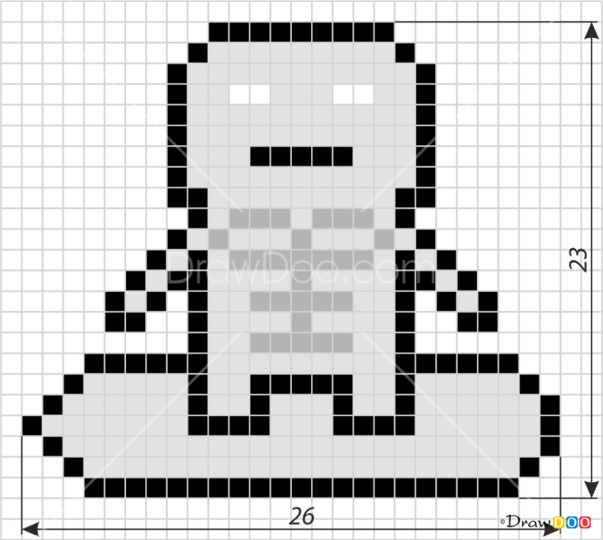How to Draw Silver Surfer, Pixel Superheroes