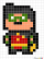 How to Draw Robin, Pixel Superheroes