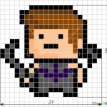 How to Draw Hawkeye, Pixel Superheroes