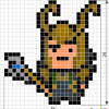 How to Draw Loki, Pixel Superheroes