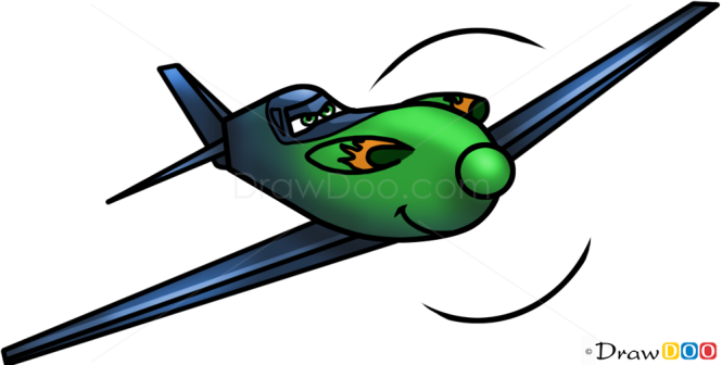 How to Draw Ripslinger, Planes Cartoon