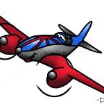 How to Draw Bulldog, Planes Cartoon