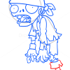 How to Draw Pirate Zombie, Plants vs Zombies