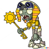 How to Draw Ra Zombie, Plants vs Zombies