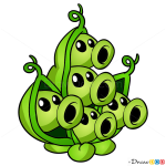 How to Draw Pae Pod, Plants vs Zombies