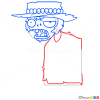 How to Draw Poncho Zombie, Plants vs Zombies