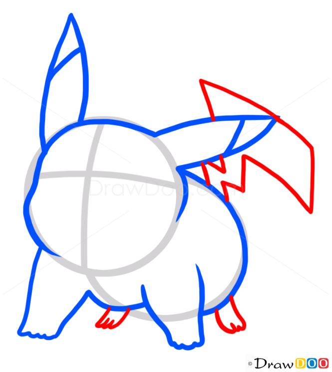how to draw anime pikachu