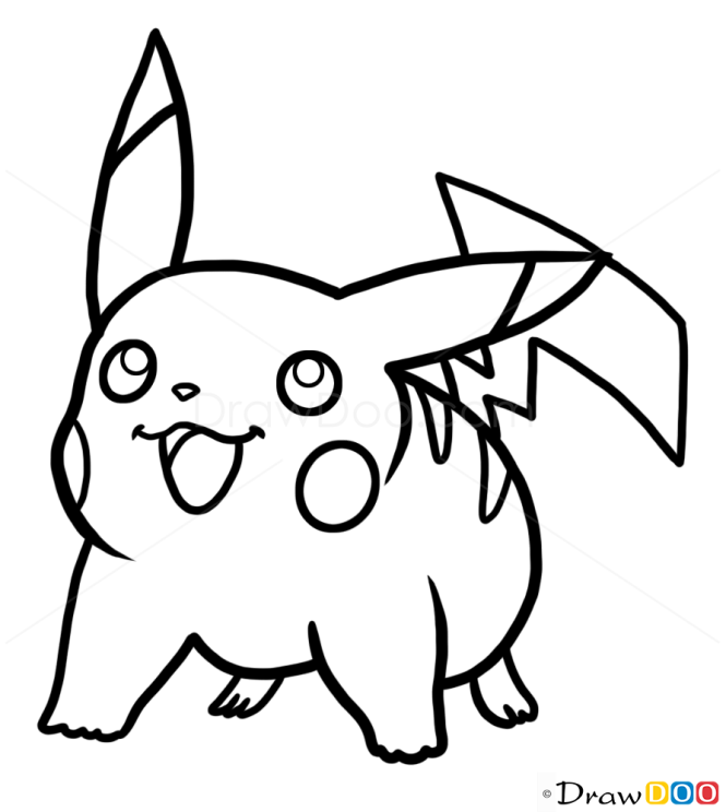 How to Draw Pikachu, Pokemons