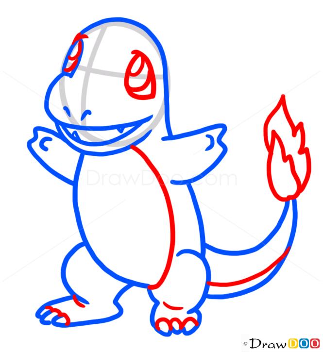 How to Draw Charmander, Pokemons