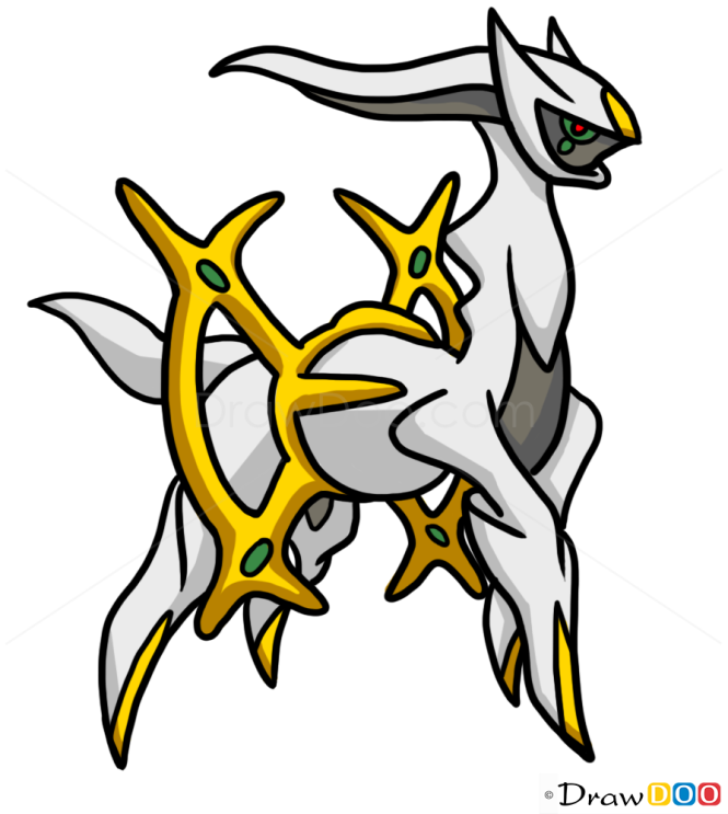 How to Draw Arceus, Pokemons
