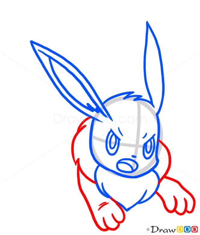 How to Draw Eevee, Pokemons