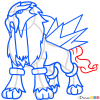How to Draw Entei, Pokemons
