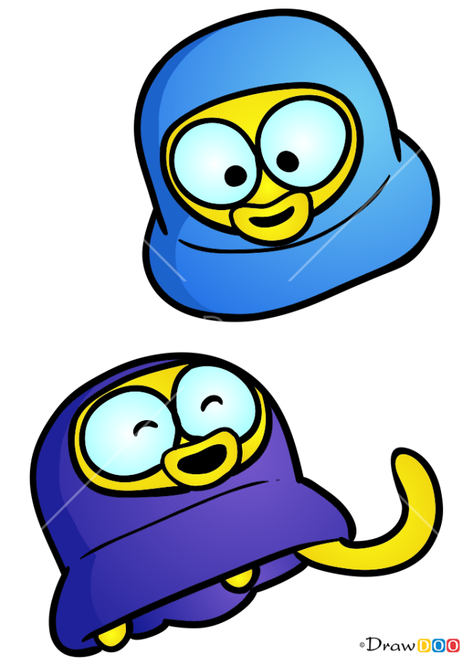 How to Draw Pipi and Popo, Pororo Penguin