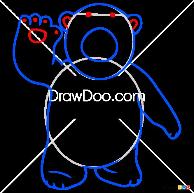 How to Draw Poby, Pororo Penguin
