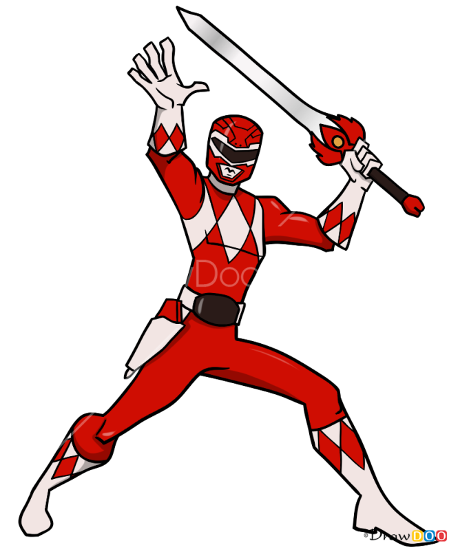 How to Draw Red Ranger, Power Rangers
